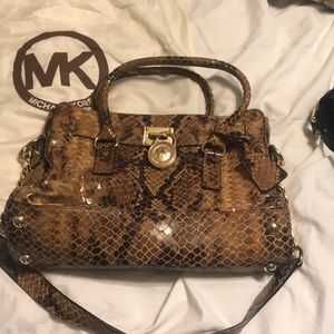 Michael Kors snakeskin purse